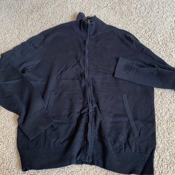 mens long sleeve zip sweater